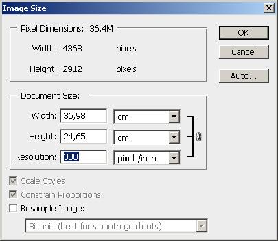 размеры печать фотографий